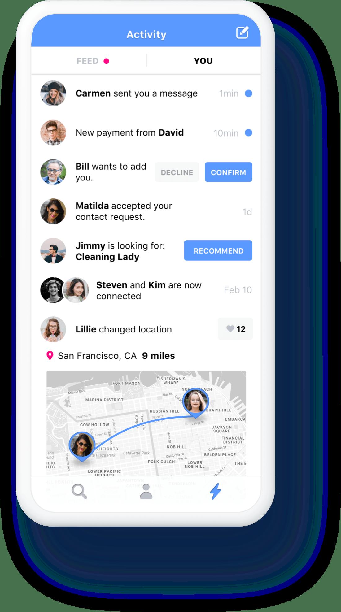 App activities view