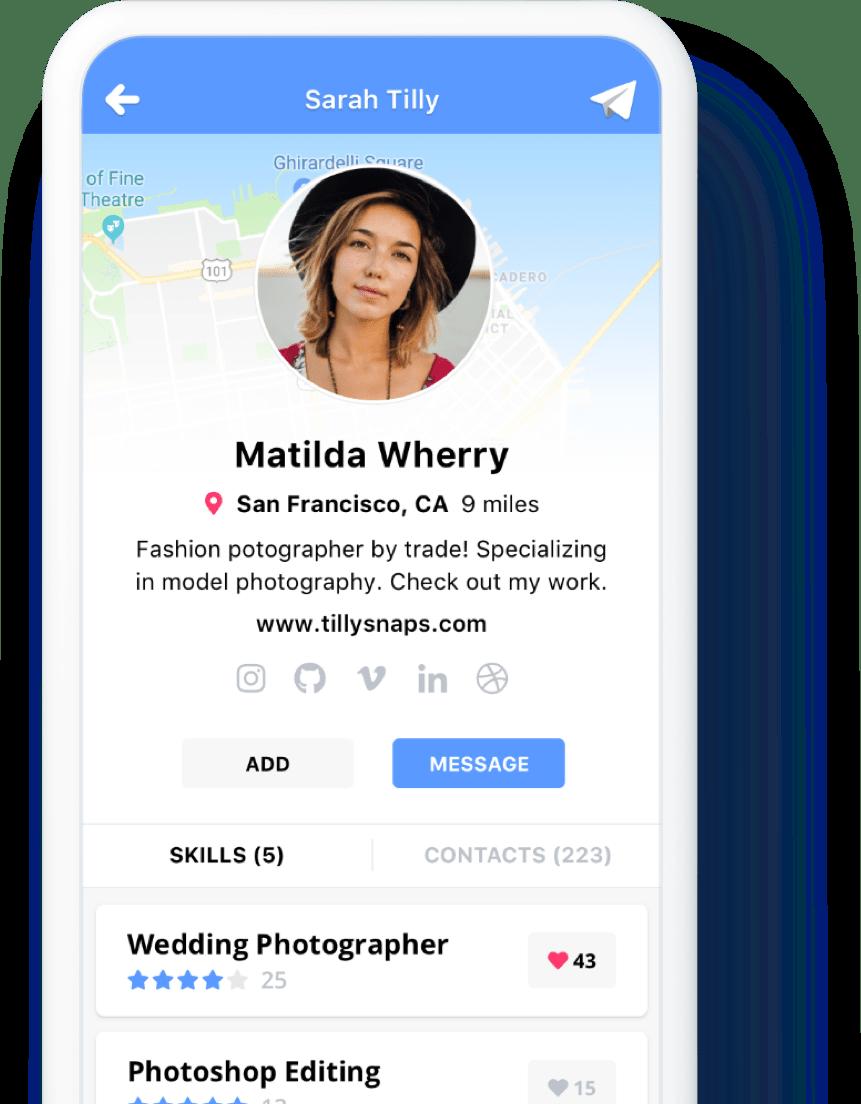 native app profile view
